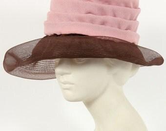 1960s Vintage antique pink hat