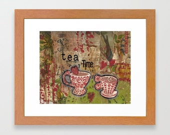Tea Sign Decor, Farmhouse decor, kitchen wall art, tea lover art, Tea art print, Tea Time, Kitchen wall art, Tea print, Tea wall art