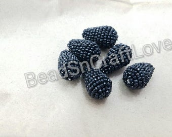 big size Black Spinel drops shape faceted rondelle Briolettes beads , 20X30 mm, 1 pieces         AAA quality