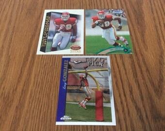 3 Tony Gonzalez (Kansas City Chiefs) Rookie Cards