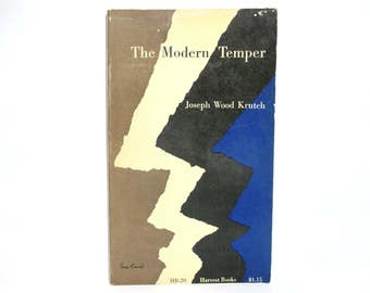 Paul Rand Cover Design ~ The Modern Temper by Joseph Wood Krutch 1956 Vintage Book