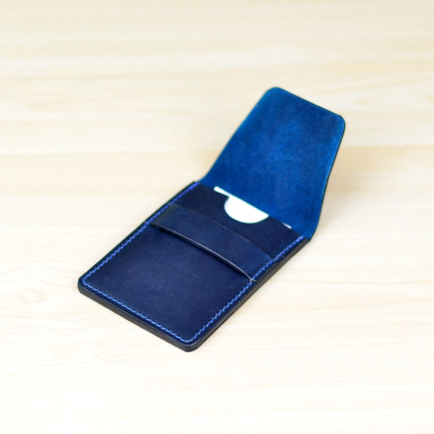 Leather Business Card Holder, Personalized Leather Business Card ...