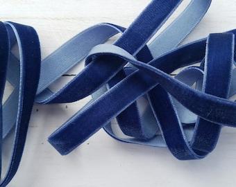 3/8 NAVY Velvet NON ELASTIC Ribbon