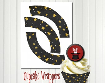 Magic Cupcake Wrapper, Magic Birthday, Cupcake Wrapper, It's Like Magic, Magician, Magic