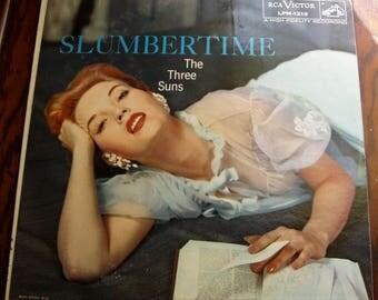 The Three Suns, Slumbertime LP Record Album, 1956, RCA Victor
