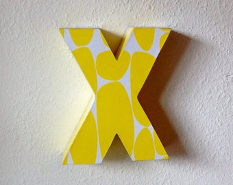 CUSTOM upcycled cardboard lowercase letter  *SAMPLE SALE!*