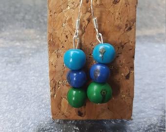 Acai seed earrings
