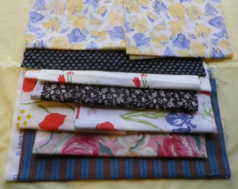Vintage Laura Ashley Cotton Fabric Offcuts Patchwork & Craft Mixed (1)