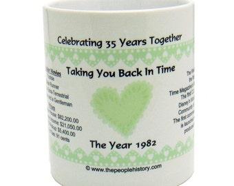 1982 35th Anniversary Mug - Celebrating 35 Years Together