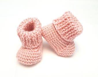 Pink Baby Booties • Pink Infant Booties • Pink Baby Shoes • Pregnancy Announcement Prop • Pink Gender Reveal Prop
