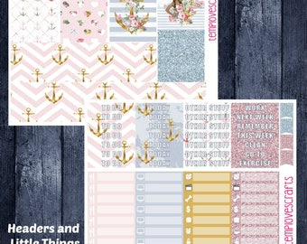 Nautical Set for Erin Condren Life Planner