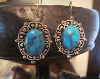 Turquoise and Sterling with Shepherd's Hook