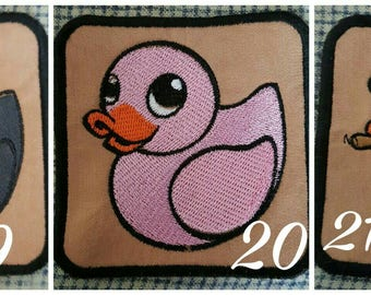Unusual Cloth Patches Rubber Ducks Ready to Send UK seller