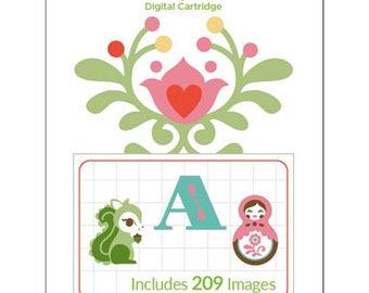 Cricut Digital Cartridge CINDY LOO 209 Images for Cricut DESIGN Space 2003790 - cc04 DG004