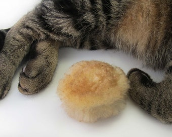 Real Sheepskin Catnip Cat Toy, Cat Fetch Toy, Baby Biscuit