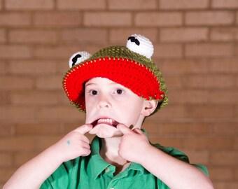 KERMIT Muppet Newsboy Cap (Flat Cap, Golf Cap, Scally Cap)