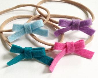 Handmade felt baby Headbands neon and spring colors