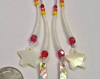 Dentalium shell earrings