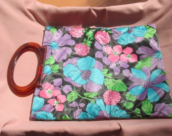 Vintage Lady's Pride Colorful Floral Folding Tote Bag TLC