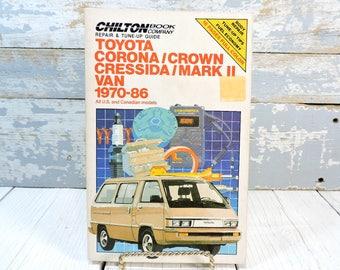 Toyota Repair Manual: Vintage Chiltonu0027s 1970 1986 Repair Tune Up Guide Book;
