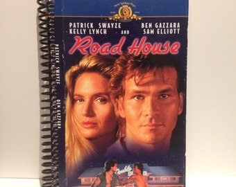 Roadhouse Handmade Recycled 100-Page Spiral VHS Notebook