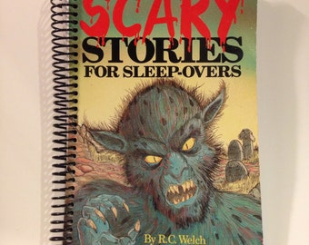 Scary Stories for Sleepovers Recycled Blank Spiral Notebook