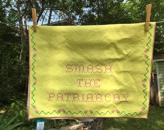 Smash the Patriarchy Tea Towel