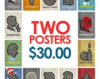 Buy Any 2 posters