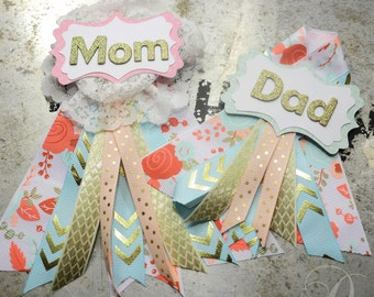 Mom and Dad to be corsage set