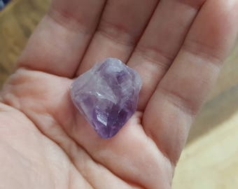 Amethyst Point from Brazil ~ 1 small Reiki infused rough crystal approx 1.5x.9x.5 inches (Apb41)