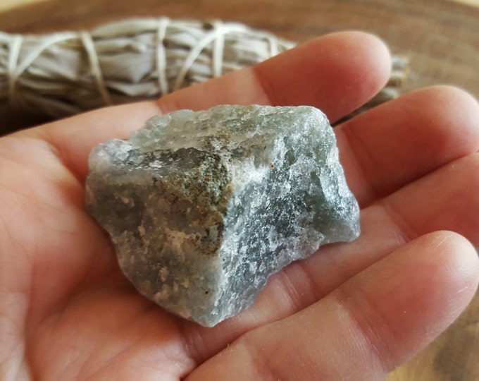 Epidote (Pistacite), Axinite, and Quartz ~ 1 Large Reiki infused rough crystal approx 1.7x1.3x.8 inches (EAQ10)