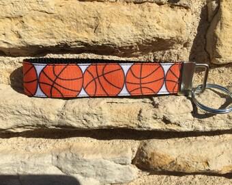 Girls Basketball Keychain Sports Gifts - Wristlet Keychain Basketball Gifts for Girls - Sports Mom Basketball Key Chain