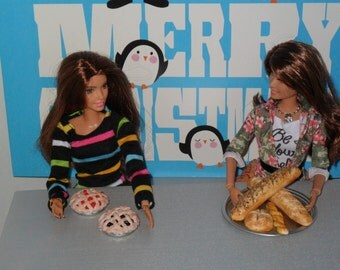 Play food for Barbie or similar size dolls