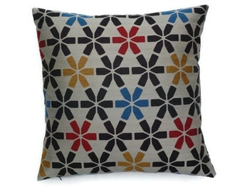 "Maharam ""Snap"" mid century modern style accent Pillow -  17"" X 17"" with feather insert"