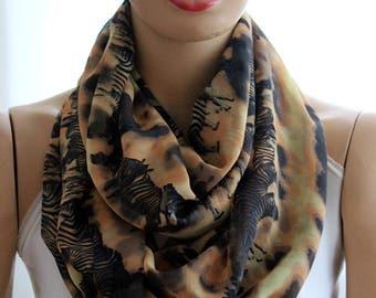 zebras print infinity scarf, loop scarf, animals scarf, zebra print scarf, animals print scarves, accessories, women accessories, fashion