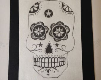 Day of the Dead Pencil Drawing