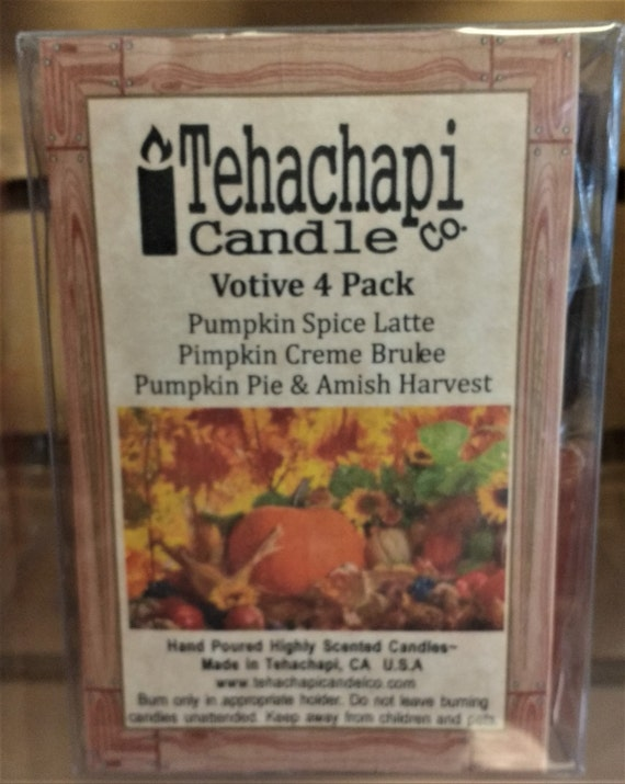 Scented Votive Candle 4 Pack: Picking Pumpkins