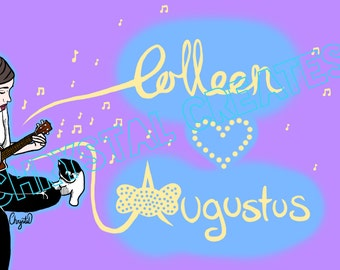 Colleen and Gus Gus- Original Design A4 Print