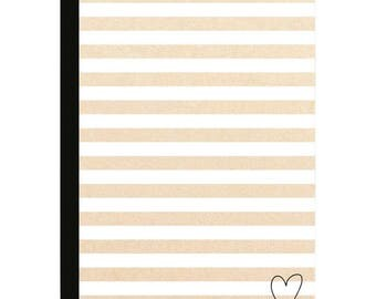 Color Crush - Composition Planner Notebook Inserts - Kraft Stripe with Lined Sheets
