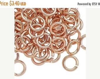 SALE: 100 10mm Copper Aluminum Jumprings 14gauge