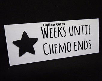 cancer plaque chemo sign days until chemo gift for cancer patient lymphoma breast cancer