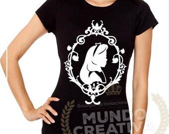 Alicia Alice in wonderland SVG EPS DFX Cutfiles Silhouette Cameo cricut vinyl decal, vinyl shirt