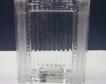 """Mikasa Glass Cotillion Frost Picture Frame 2 3/4"""" X 4"""""""