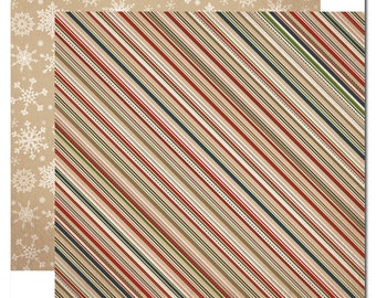 Carta Bella Scrapbook Paper - Cozy Stripes