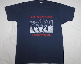 Vintage The Beatles Liverpool T-Shirt Albert Dock JOhn Lennon