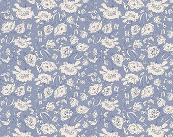 Blooming Brook Moon, Wonderful Things by Bonnie Christine for Art Gallery Fabrics, floral fabric, purple flowers, purple, Easter fabric
