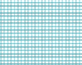 Aqua Gingham by Riley Blake Designs, aqua fabric, blue fabric squares, fabric by the yard, summer fabric, spring fabric, gingham checks