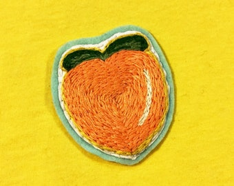 Lil Peach Patch • Hand Embroidered