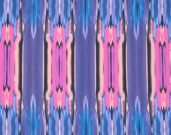"""Multicolor Abstract Stripe Print #495 4 Way Stretch Swimwear Activewear Cosplay Nylon Spandex Lycra Craft Fabric 58""""-60"""" Wide By The Yard"""