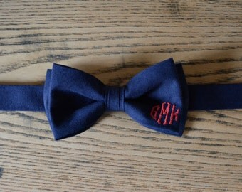 navy blue and red bow tie for boys navy blue and red monogram bow ties red monogram